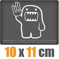Domo Shocker 10 x 11 cm JDM Decal Sticker Auto Car Weiß Scheibenaufkleber