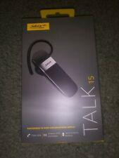 Jabra Talk 15 Bluetooth Headset Black/Silver In Box -New