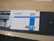 HYUNDAI H100 OWNERS MANUAL HANDBOOK  WALLET PRINT 2000