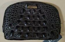 Brahmin Tina Make up Cosmetic Bag Clutch Caviar Melbourne Croc Embossed Leather