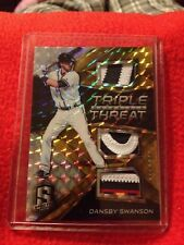 2017 Spectar Prizm TTM Dansby Swanson Game Used Patch /10 Braves Rookie Rare