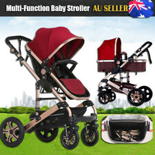 8 in 1 Foldable Baby Stroller Pram & Bassinet Newborn Jogger Travel Pushchair AU