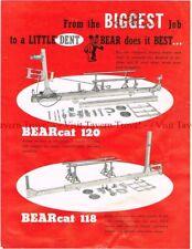 1950s Bear Frame Straightening Tool Bearcat 118 120 Rock Island IL Brochure