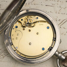 Huge GOLIATH 8-DAYS REPEATING REPEATER Antique Pocket Watch - 8cm diameter