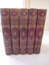 Lord Macaulay~THE HISTORY OF ENGLAND~5 VOLUMES~CIRCA 1880~ VERY NICE SET