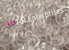 back in: C CLIPS LOOM BANDS 8 gram/approx 100 qty clear DIY bracelet connector