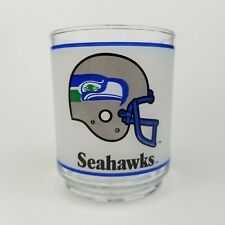 Vintage Seattle Seahawks Frosted Glass Tumbler NFL Mobil Excellent Condition
