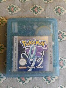 Jeu Game Boy Color Pokémon Version Cristal Authentique très bon etat (pile HS)