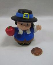 Fisher Price Little People THANKSGIVING PILGRIM BOY Mayflower w/ APPLE Rare