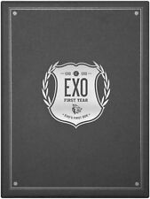 K-POP EXO EXO's First Box DVD 4Discs + Earphone Winder Sealed Music DVD