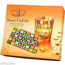 Azulejo Mosaico Craft Kit De Vela Votivo De Cristal Y Caja de chucherías Casa de la artesanía Set De Regalo