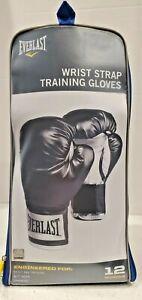 NEW Pro Style Black Boxing Training Gloves EVERLAST 12oz NIB