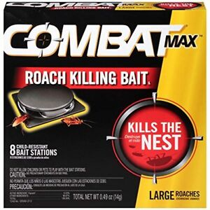 Combat 994884 Roach Bait, 8 Count (Pack of 1), Black