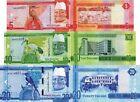 GAMBIA - Lotto 3 banconote 5/10/20 Dalasi 2015 FDS - UNC