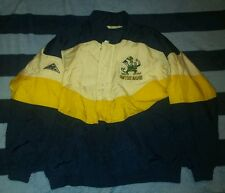 Vtg 90's Apex One Notre Dame Fighting Irish Stitched Jacket Coat SZ L