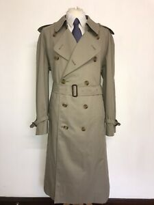 BURBERRY - Mens Vintage BEIGE COTTON TRENCHCOAT - UK 46-48 Reg - BRAND NEW