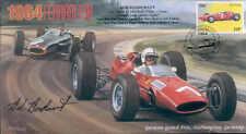 1964 A Ferrari 158 & BRM P261 Nurburgring F1 Cubierta firmado Bob Bondurant