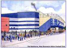 """THE HAWTHORNS WEST BROM ALBION BRUMMIE ROAD ARTISTS PRINT GREETINGS CARD 8""""x 6"""""""
