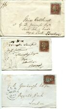 GB Queen Victoria penny red on cover: 2 covers one cover front