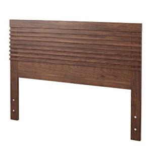 IKEA MATHOPEN Headboard QUEEN medium brown SOLID WOOD