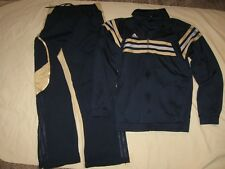 Akron Zips Tracksuit Warm Up Jacket & Pants Men's Small Adidas Ohio MAC Zippy