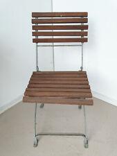 U0842 Old Biergartenklappstuhl with Wooden Slats ~ Beer Garden Chair~Folding
