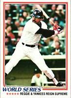 1978 Topps '77 World Series Reggie Jackson Yankees Card #413