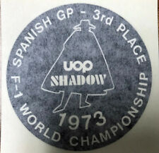 GEORGE FOLLMER 1973 SHADOW UOP 3RD PLACE SPAIN WING STICKER.
