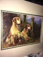 Golden Retriever Art Print Mounted 10 X 8