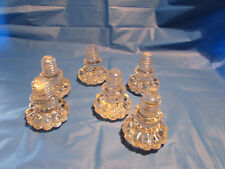 SELECTION OF 6 GLASS DECANTER BOTTLE STOPPERS