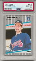 1989 FLEER #602 JOHN SMOLTZ, PSA 10 GEM MINT, RC, ROOKIE, HOF, ATLANTA BRAVES