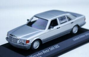 Mercedes 560 Sel W126 Year 1979-1991, Silver Metallic, MINICHAMPS 1:43, Limited