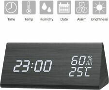 New NUTRIHOME SWEET-621 Digital ALARM CLOCK w/ White LED Temperature & Humidity