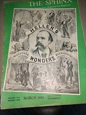 Sphinx Magazine Magicians Hellers Wonders Issue 1943 Vol.Xlii No.1
