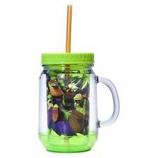 Teenage Mutant Ninja Turtle Mug with Lid and Straw