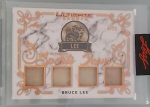 2021 LEAF ULTIMATE SPORTS BRUCE LEE 4/20 QUAD GAME USED RELIC ICONS RARE LEGEND