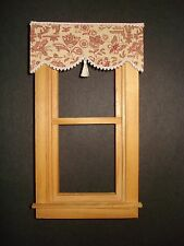 """Dollhouse Curtains - Shade - Oriental Toile with Tassel - 3 """" wide"""