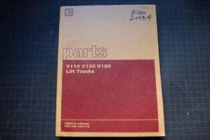 Caterpillar V110 V130 V150 Forklift Parts Manual Book catalog spare 1984 OEM CAT