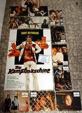 DIE KAMPFMASCHINE / LONGEST YARD * BURT REYNOLDS -12 AHF`s + A1-FILMPOSTER 1975