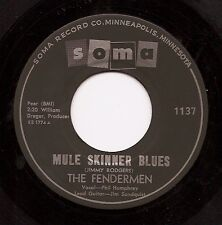 FENDERMEN Mule Skinner Blues / Torture  Rockabilly 45 on Soma  Listen