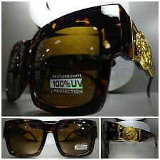 CLASSIC VINTAGE GANGSTER HIP HOP RAPPER PARTY SUN GLASSES Tortoise & Gold Frame