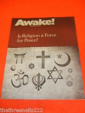 AWAKE! - IS RELIGION A FORCE FOR PEACE - JAN 2011