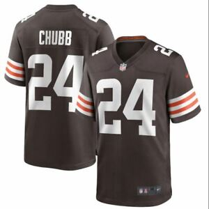 Nick⭐ Chubb ⭐ Cleveland Browns Nike Game Player Jersey - Brown ⭐ NBA ⭐2021