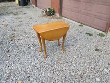 OAK TABLE DROP LEAF AMISH MADE OAK TABLE