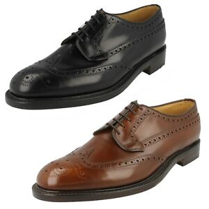 MENS LOAKE LEATHER BROGUE FORMAL SMART WEDDING LACE UP SHOES BRAEMAR SIZE
