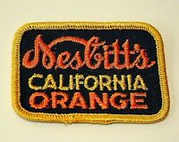 Vintage Nesbitt's California Orange Soda Advertising Cloth Patch New NOS 1960s