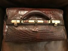 Alligator & Brass Antique Doctor Bag Beautiful