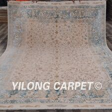 Yilong 8.3'x10.5' Handmade Wool Area Rug All-Over Style Hand-knotted Carpet C56S