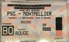 TICKET / BILLET PSG-MONTPELLIER 11/09/1993 D1 paris saint germain sg