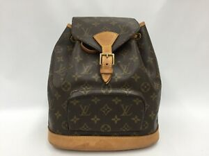 Auth Louis Vuitton Monogram Montsouris MM Backpack Shoulder bag 1D280060n""